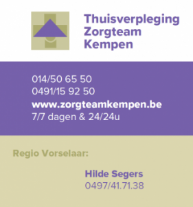 Goud Thuisverpleging Zorgteam Kempen