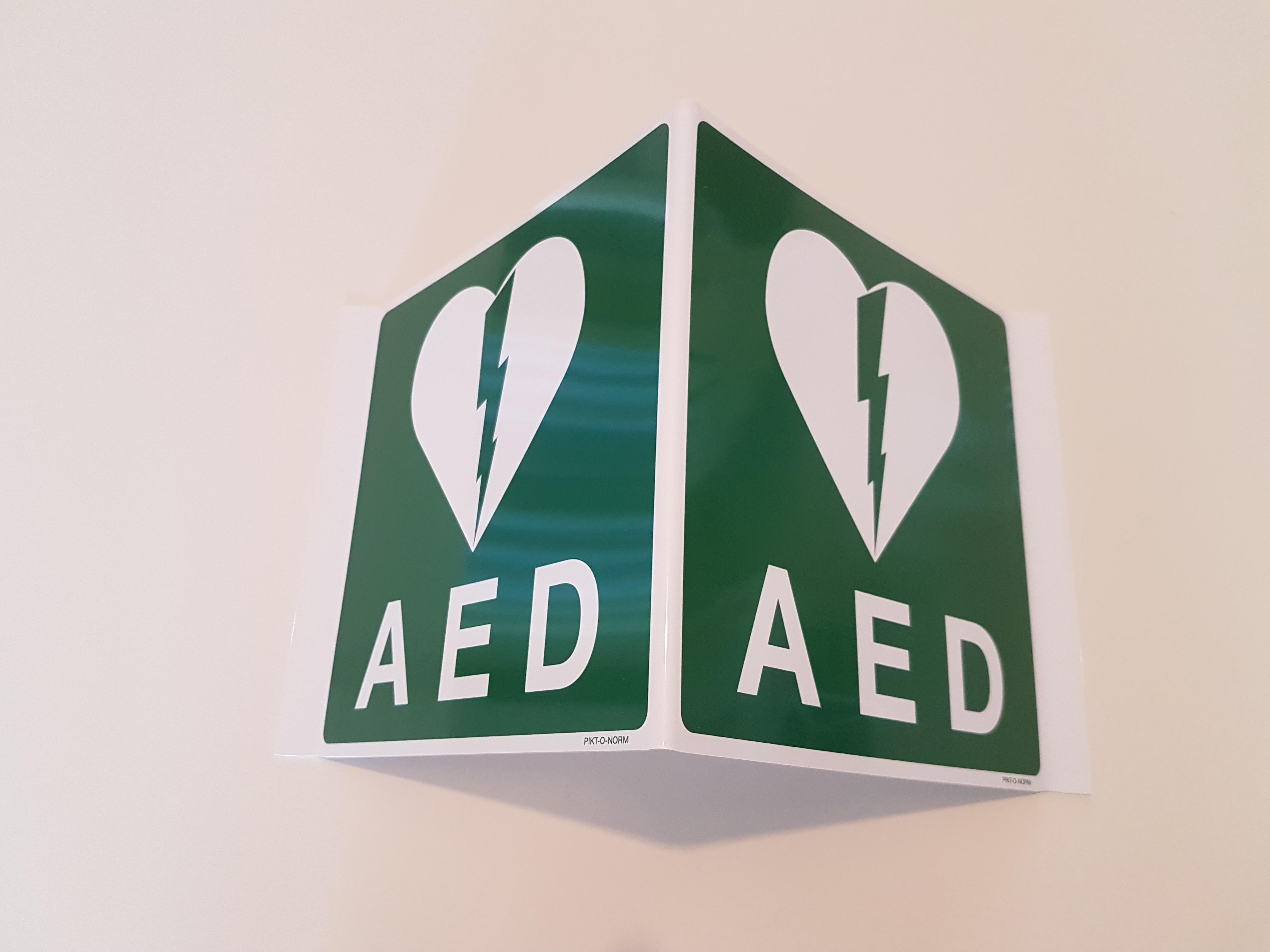 Signalisatiedriehoek AED