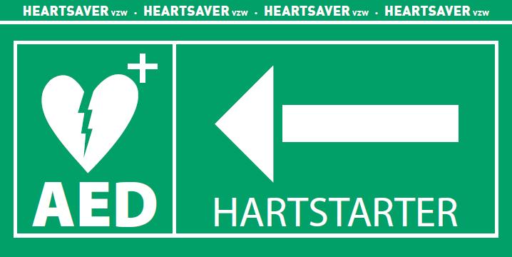 Signalisatie Hartstarter links