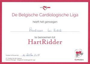 certificaat hartridder